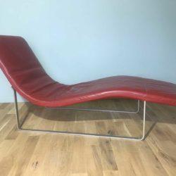Chaise longue cuir vintage