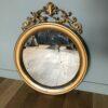 ancien miroir rond or