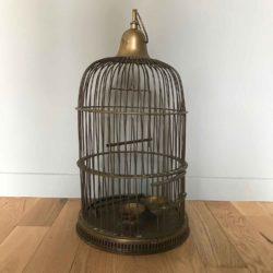cage à oiseau en laiton
