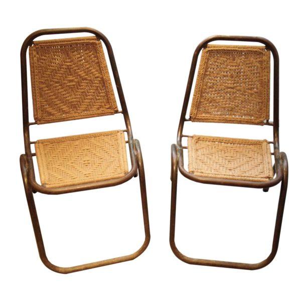 Chaise corde vintage