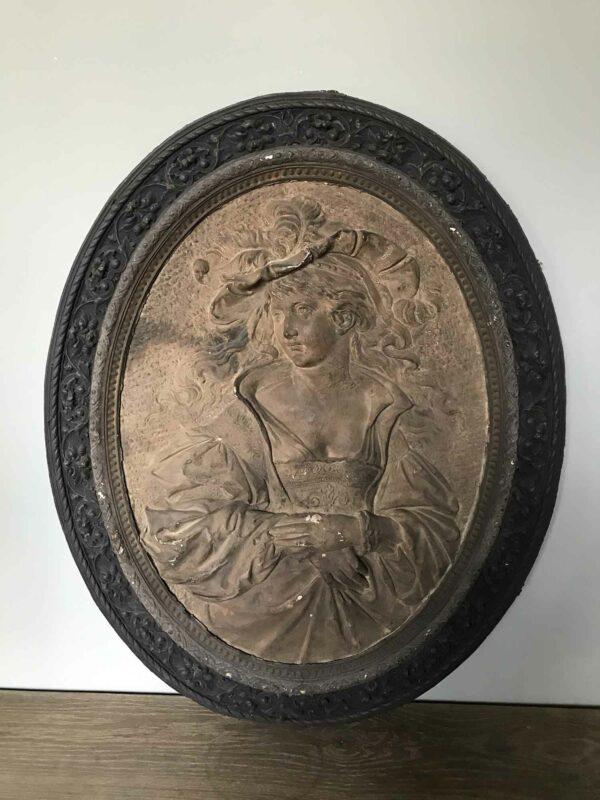 tableau ovale ancien