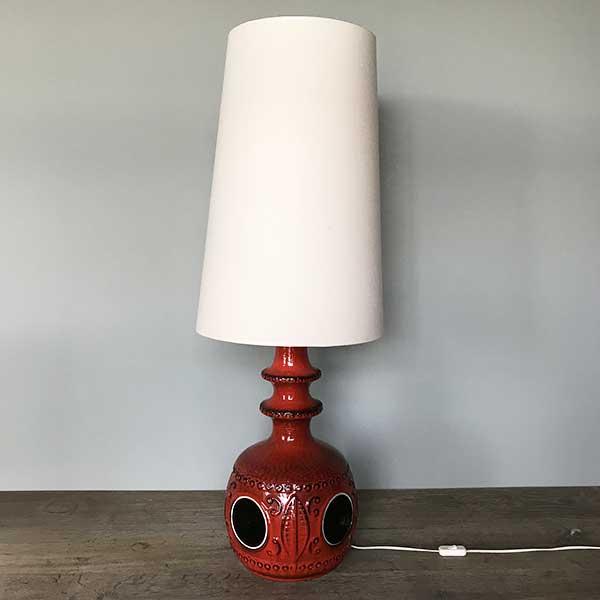 Lampe vintage pied ceramique 1970