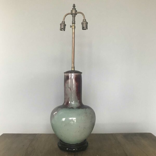 lampe porcelaine sans de boeuf sur céladon