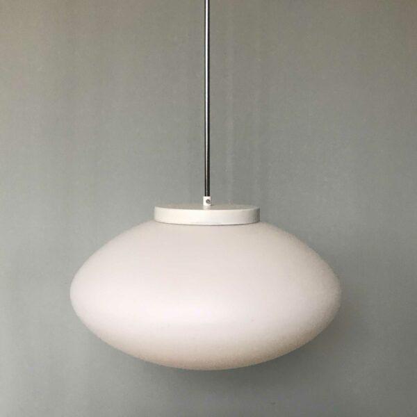 luminaire 1950 verre blanc