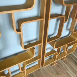 Paire claustra. vintage en bois