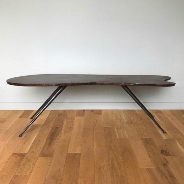 Table basse bois 1950 1960