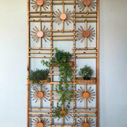 claustra vintage soleil en bambou